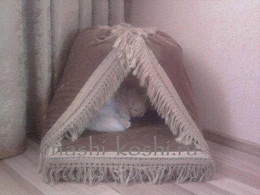 Лежак для кошки сшить фото