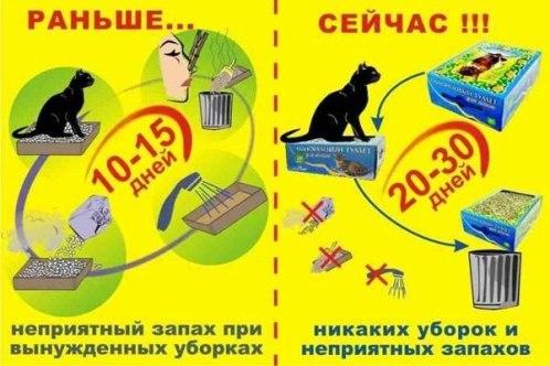 одноразовый кошачий туалет